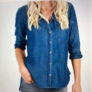 ANTHROPOLOGIE CLOTH & STONE CHAMBRAY BUTTON SHIRT